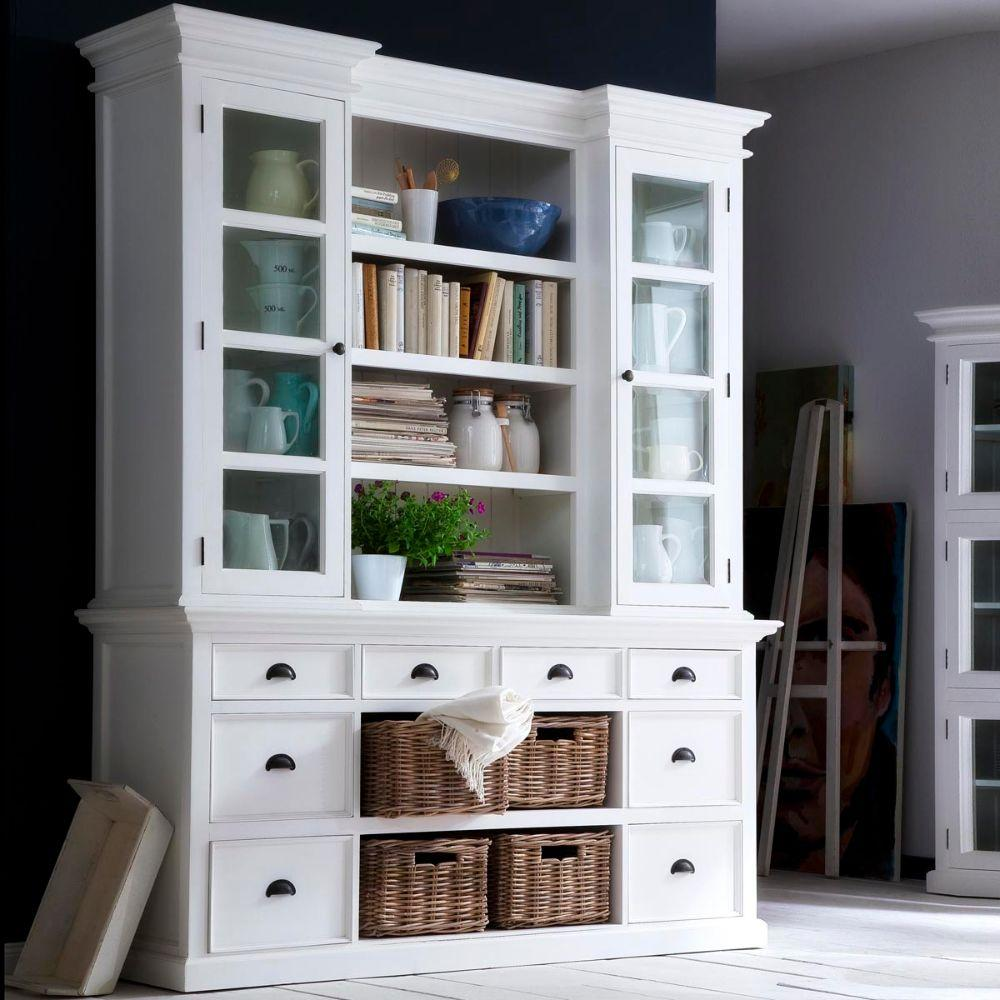 Halifax Library Hutch with basket set