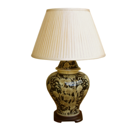 Ceramic Embossed Lamp, Regal Design 67cm