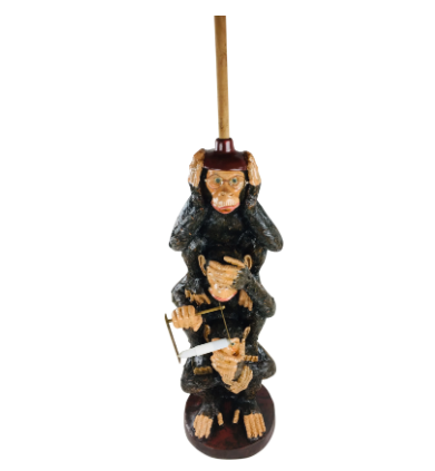Resin Monkeys Toilet Roll Holder 82cm