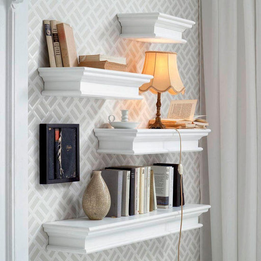 Halifax Floating Wall Shelf, Long