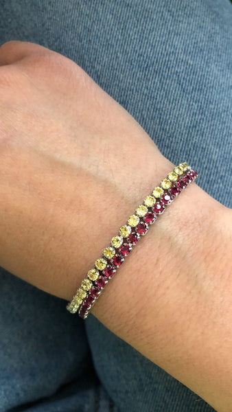 Bracciale Tennis Cherry & Yellow