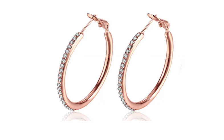 Orecchini simple Hoop Rosa