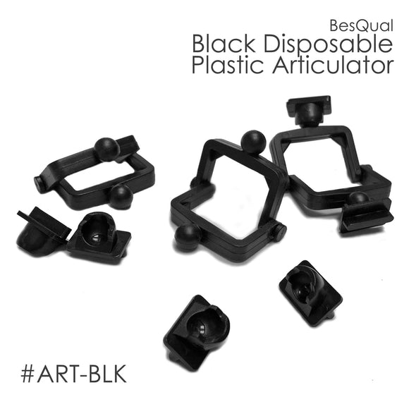 Besqual Black Disposable Articulators: 500 pk