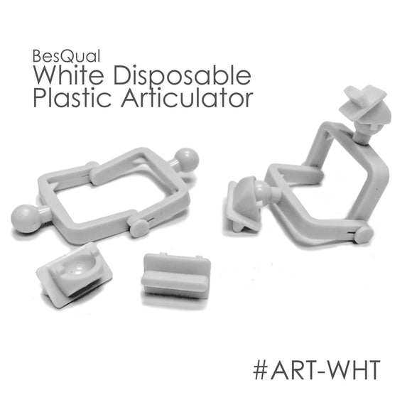 Besqual White Disposable Articulators: 500 pk