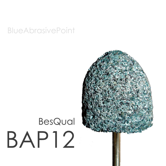 Besqual Blue Abrasive Points (HP Shank) #12 Large