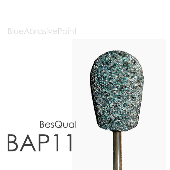 Besqual Blue Abrasive Points (HP Shank): Medium 10pk