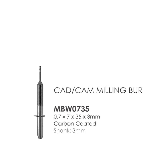 Weiland Compatible Milling Burs: Carbon Coated