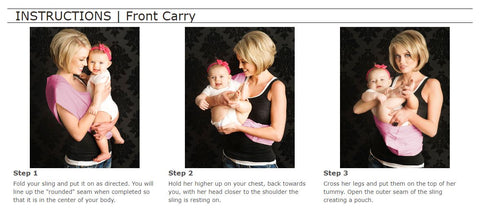 Instructions on How to Front Carry With a Babywearing Sling