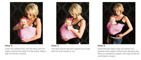 Babywearing Sling Front Carry Instructions for a 2-8 Month Old Baby