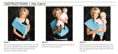 Babywearing Sling Hip Carry Instructions for a 6+ month Old Baby