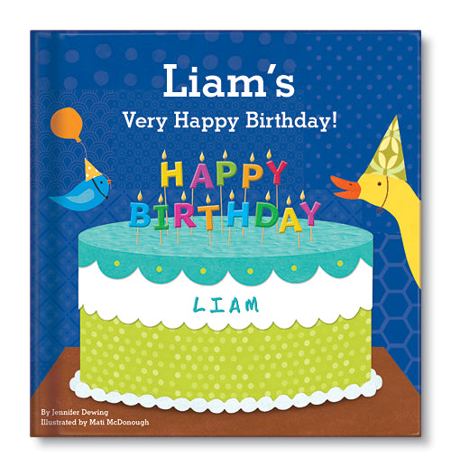 My Very Happy Birthday for Boys Personalized Board Book