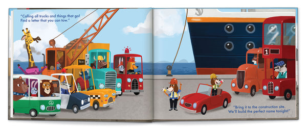 My Very Own® Trucks  (First/last name) Personalized Storybook