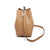 ADA Tote Bucket Bag with Metal Handle - Tan
