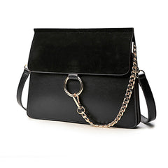 AIMEE Round Buckle Shoulder Bag - Black (PRE-SALE)