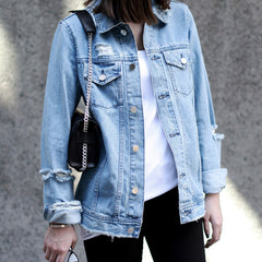 DUTY Distressed Denim Jacket