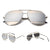 DANI Split Sunglasses - Silver with Silver Mirror Lens