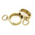 DUAL Metal Wrist Cuffs (pair) - Gold