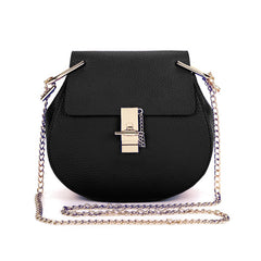 CAMERON Round Leather Shoulder Bag - Black (PRE-SALE)