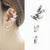 Crystal Wing Ear Cuff Earrings (3-Piece Set)