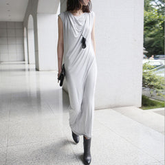 EBONY Jersey Drape Tank Dress