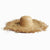 Frayed Edge Straw Sun Hat - Burnt Amber