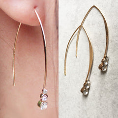 HEIST Curve Hook Earrings with Crystals