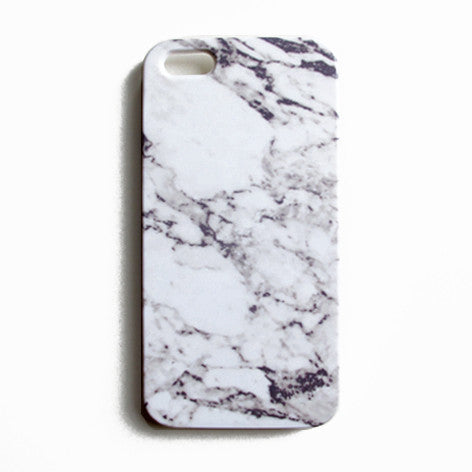iPhone Case - Grey Cracked Marble