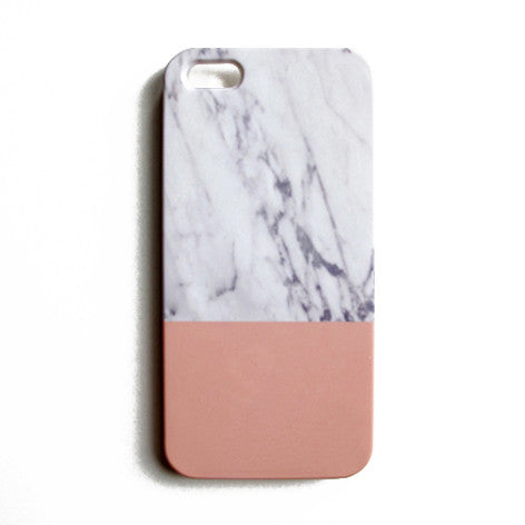 iPhone Case - Grey Marble/Rose