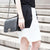 GEO Side Cut-Outs Monochrome Skirt