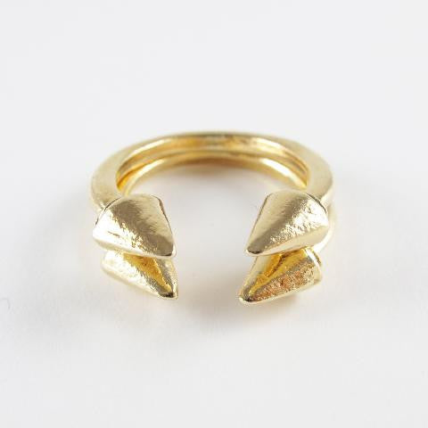Spike End Open Ring Stack (2 pc)