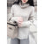 MAY Turtleneck Knit Sweater - Beige, White