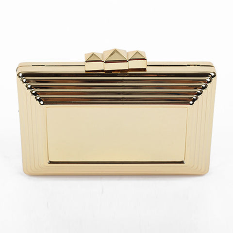 MIDAS Rockstud Box Clutch - Gold