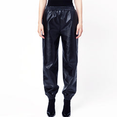 GEORGIA Leather PU Track Pants