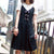 SANTANA Eyelet Lace-Up Dress - Black