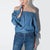 SASHA Off-Shoulder Tunic Top with Tie Sleeves- Chambray