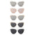 SONG Sunglasses - Rose with Pink Mirror Lens