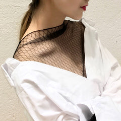 REESE Mesh Shirt Top - White