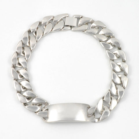Silver Chunky ID Choker Necklace
