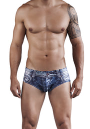 Clever Moda, Indigo Jean Latin Brief Blue
