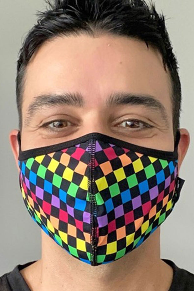 Andrew Christian Pride Checker Glam Mask - Máscara