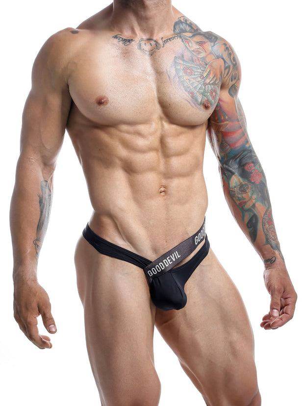 Good Devil Micro Thong -  Tanga - Negro GDK034