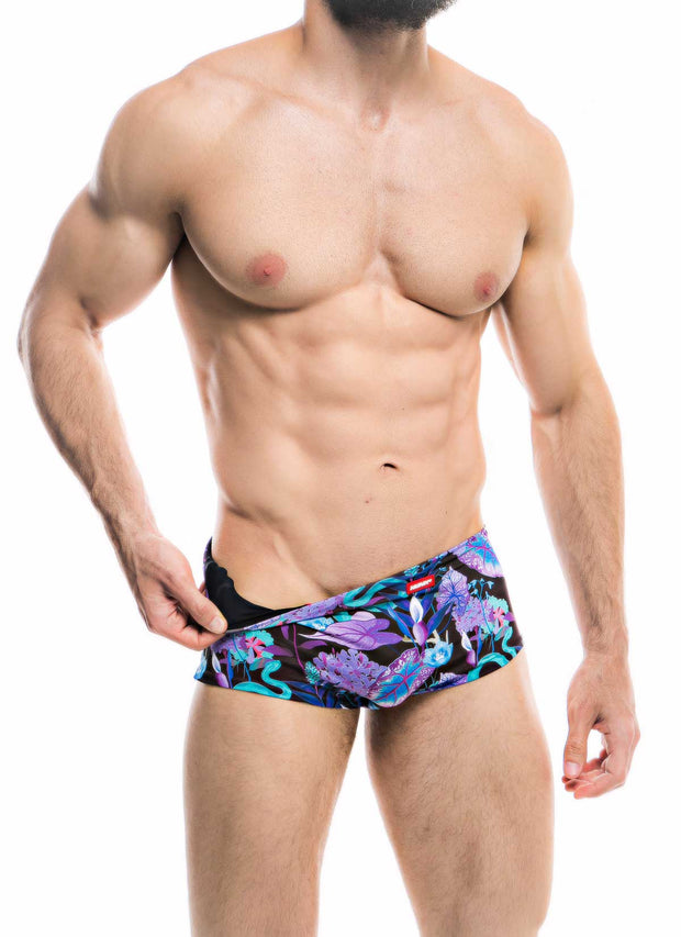 HUNK2 Ba–adores Swimsquared Natter_ Reversible Swim Trunks