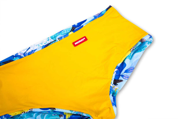 HUNK2 Bañadores Swimsquared Pappagalli  Reversible Swim Trunks