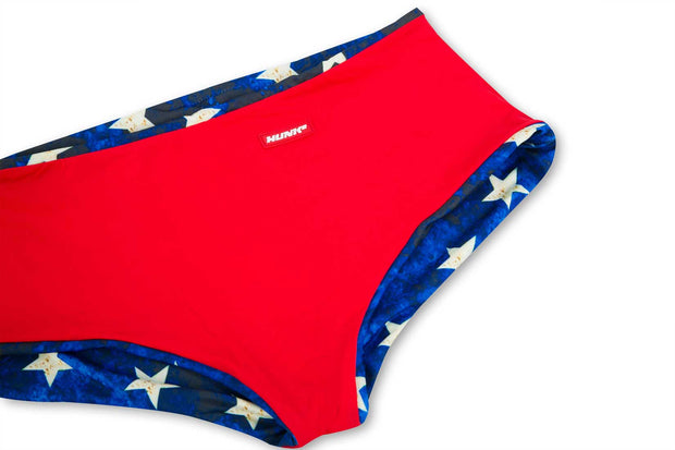 HUNK2 Bañadores Swimsquared Vaterland  Reversible Swim Trunks