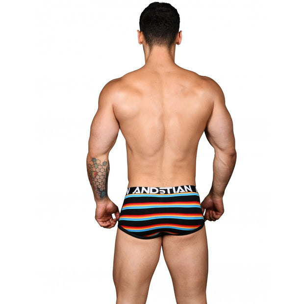 Andrew Christian California Stripe Boxer w/ Almost Naked