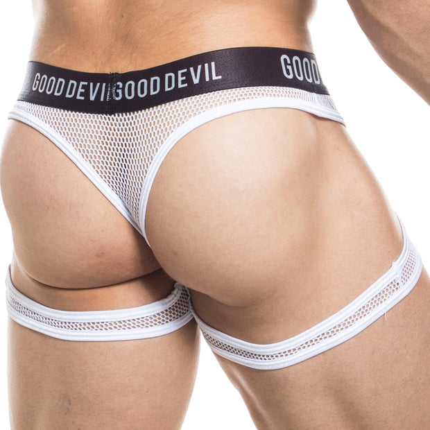 Good Devil GDK036 Cheeks Out Thong White