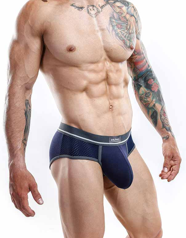 Hung  Briefs Azul Marino- XL-HGJ004