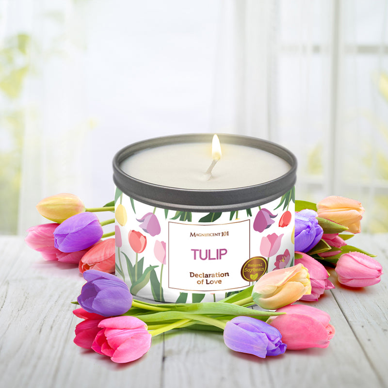 FLOWER INTENTION Tulip Candle