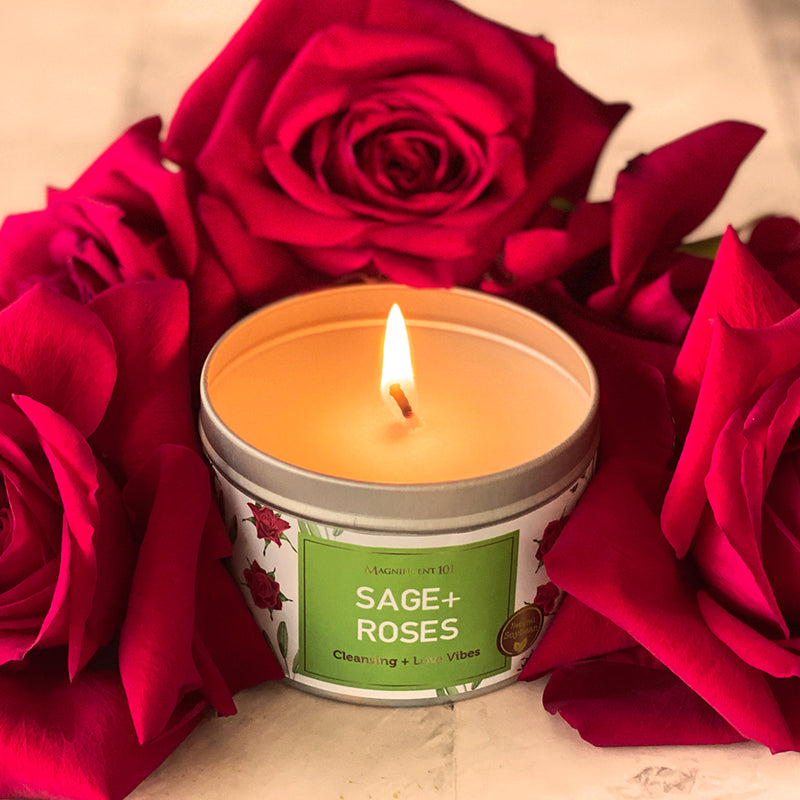 SAGE + ROSES Love Candle