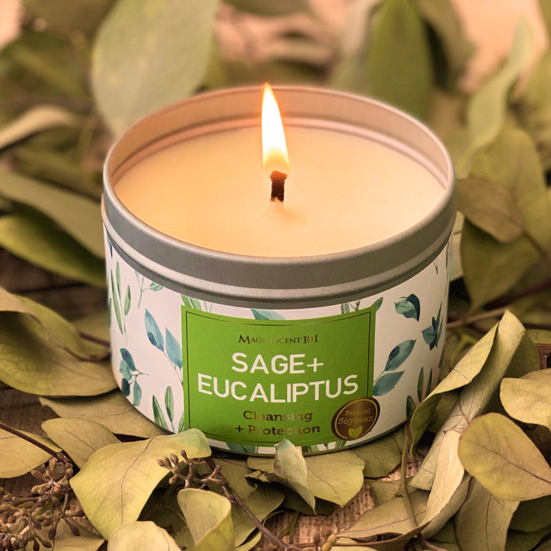 SAGE + EUCALYPTUS Protection Candle